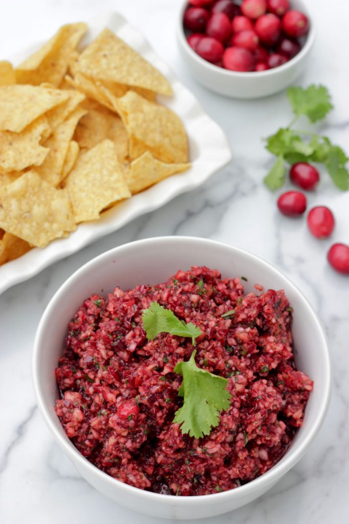 Cranberry Salsa and chips