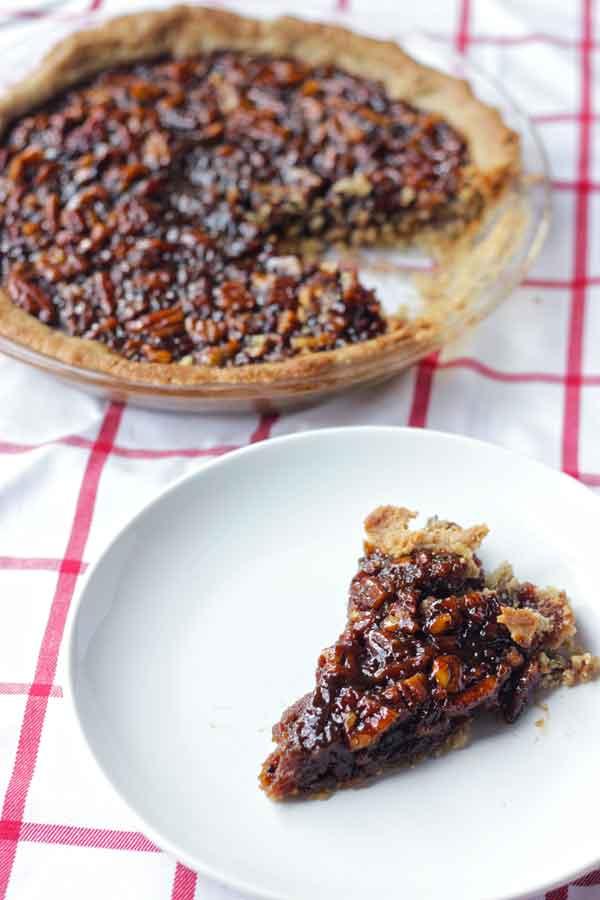 Vegan Gluten Free Pecan Pie Slice