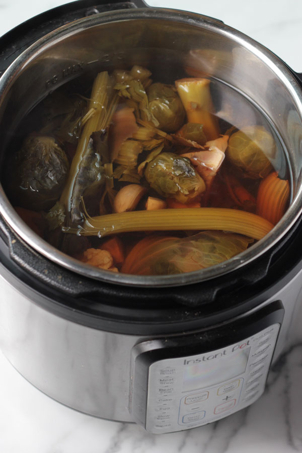 Instant Pot Veggie Broth Cooked