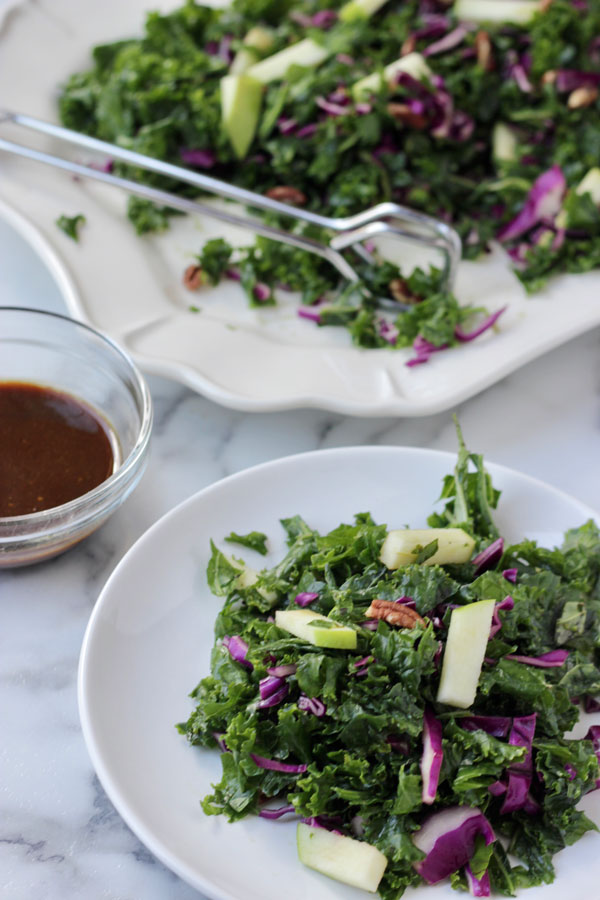 Kale Salad with balsamic vinaigrette