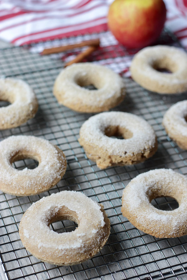 Apple Cider Donuts on cooling rack