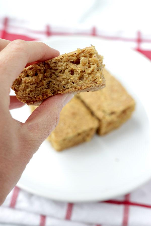 Vegan Gluten Free Cornbread closeup
