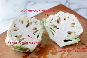 How to cut a cauliflower