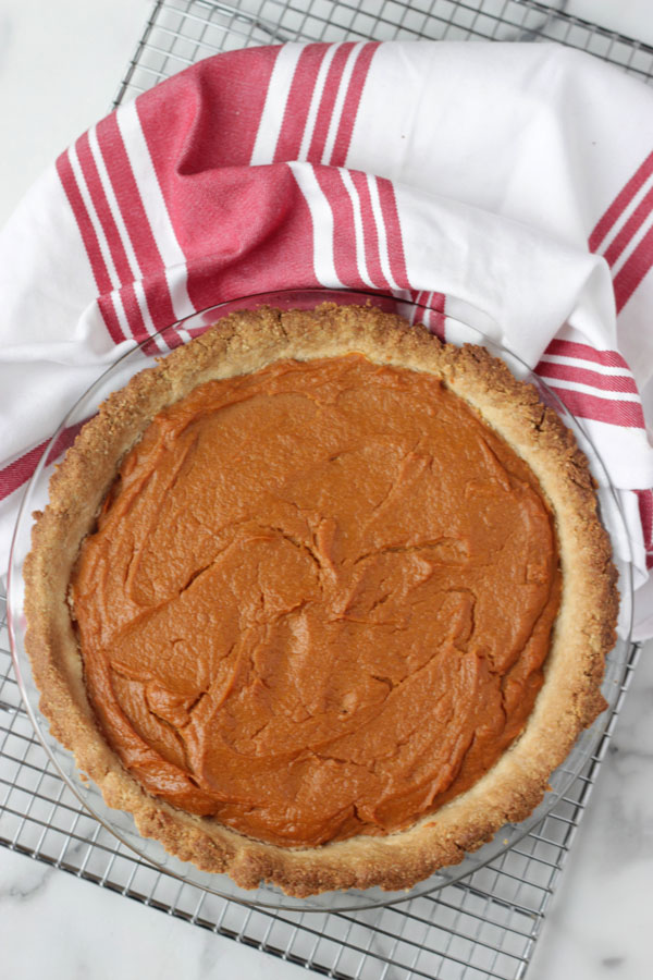 Sweet Potato Pie on cooling rack