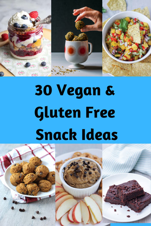 Vegan and Gluten Free Snack Ideas