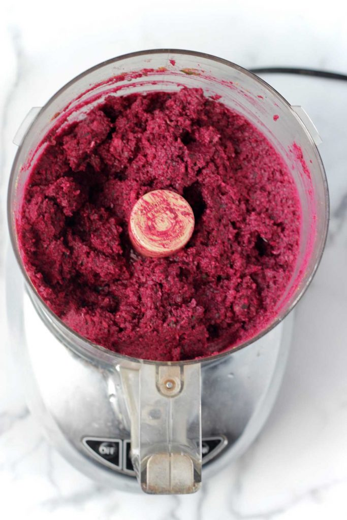 Baked Lentil Falafel with Beetroot
