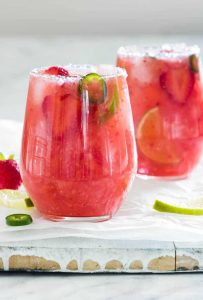Jalapeno Strawberry Margarita
