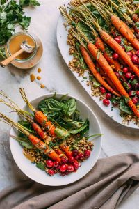 Maple Roasted Carrots & Cranberries