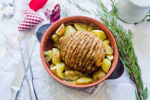 Celery root holiday roast