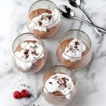 Vegan chocolate mousse in glasses