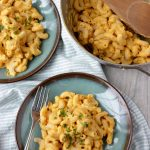 Butternut Mac and Cheese on plates