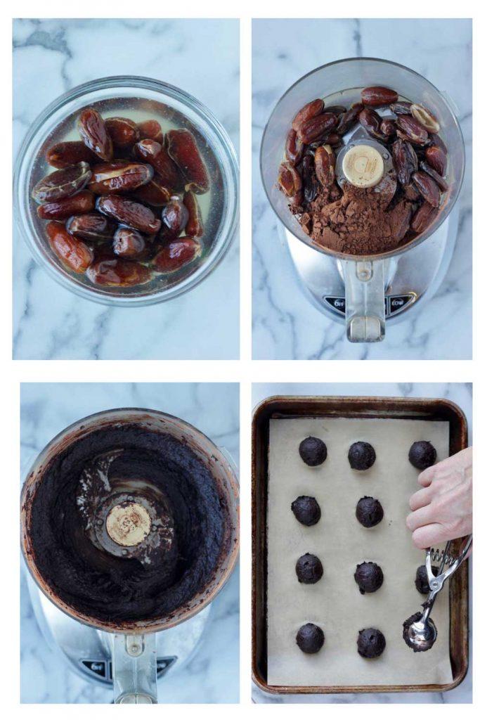 Date truffle process shots