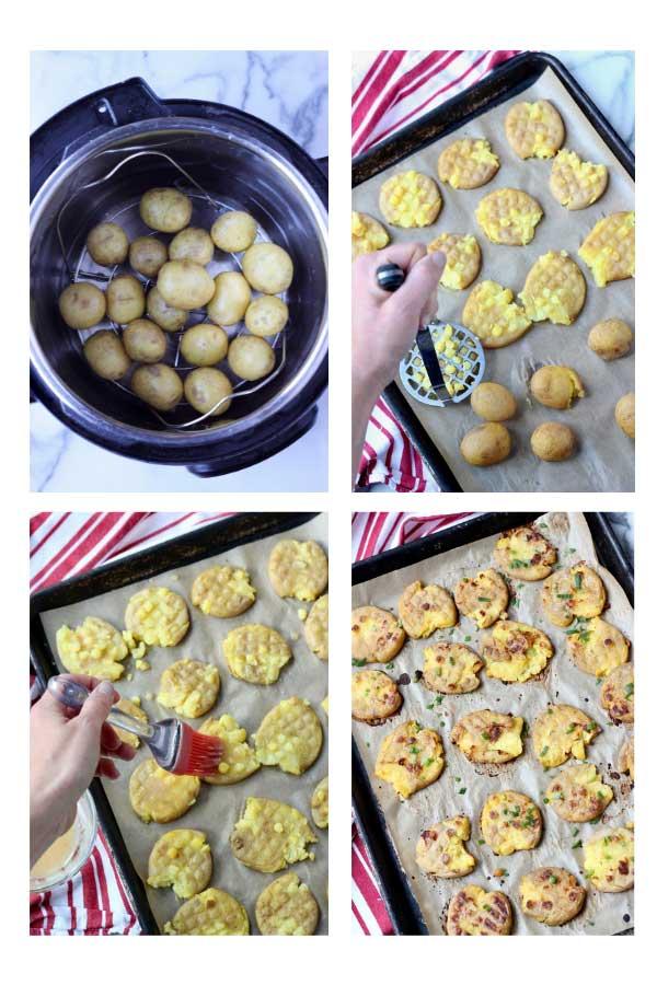 Garlic Smashed Potatoes step-by-step