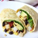 Vegan Breakfast Burrito on white plate